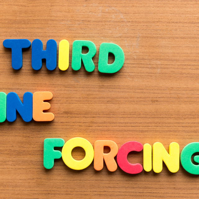 """""""third line forcing"""" stock image"""