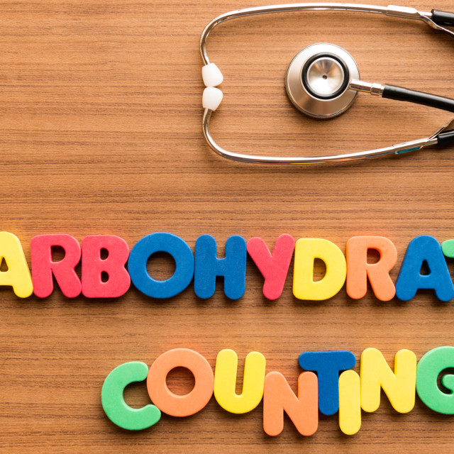 """carbohydrate counting colorful word"" stock image"