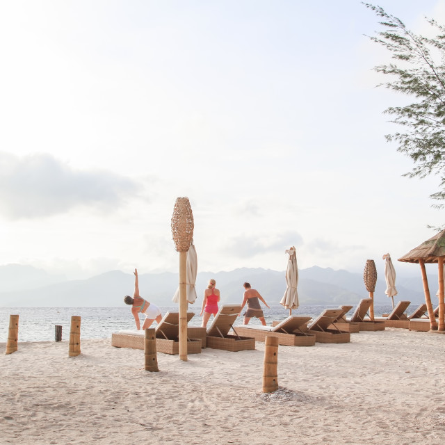 """Morning at Gilitrawangan Beach"" stock image"