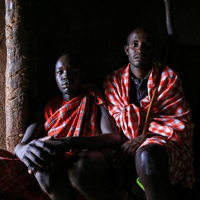 """""""Maasai Warriors"""" stock image"""