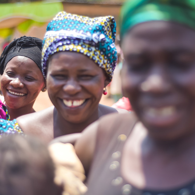 """""""African womens smile"""" stock image"""