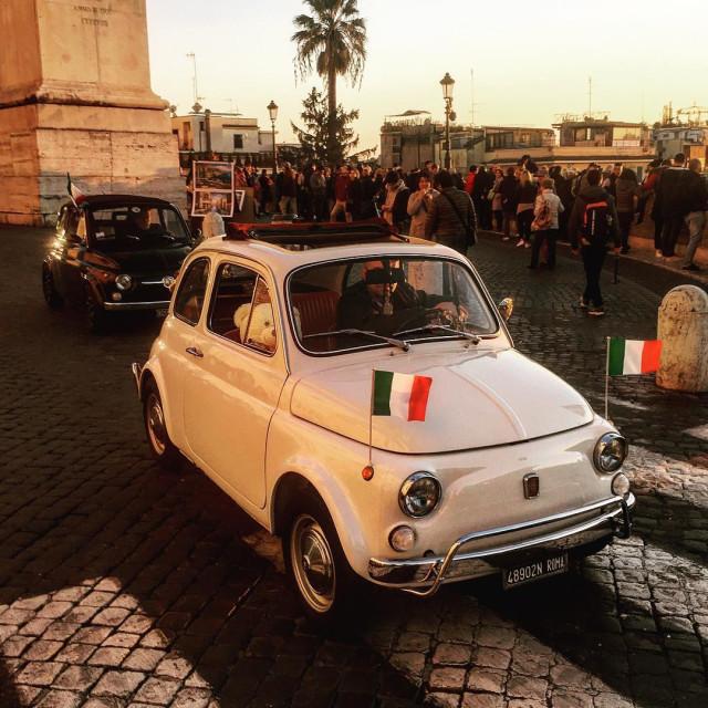 """Fiat 500, Rome"" stock image"