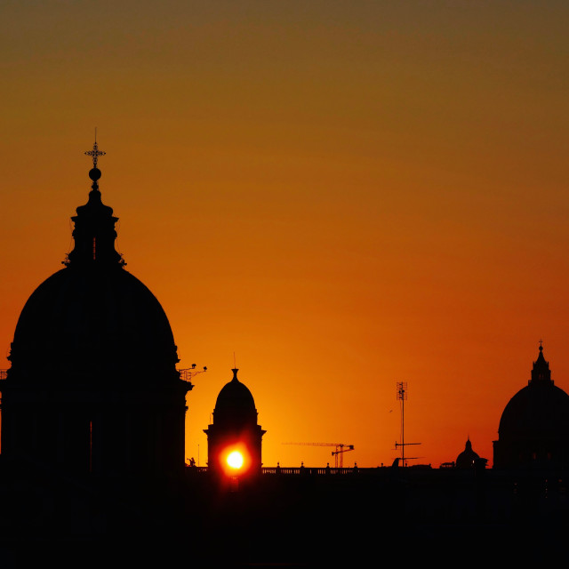 """Last Light In The Eternal City"" stock image"