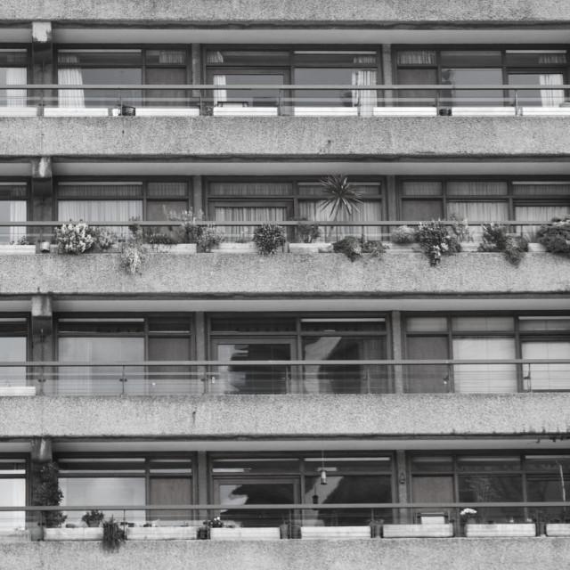 """""""Barbican Black & White"""" stock image"""