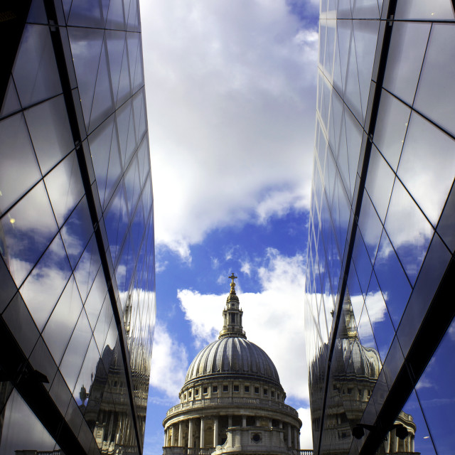 """""""St Paul's Reflections"""" stock image"""