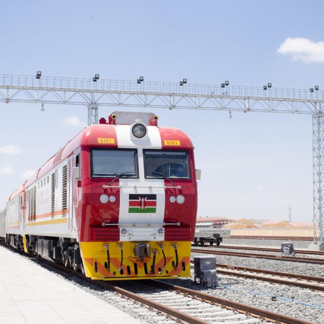 """Train""#CelebrateAfrica"" stock image"