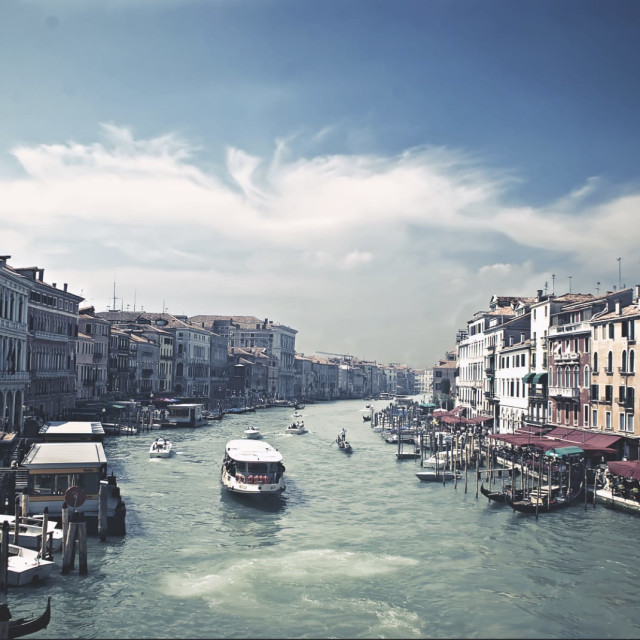 """The Grand Canal in Venice"" stock image"