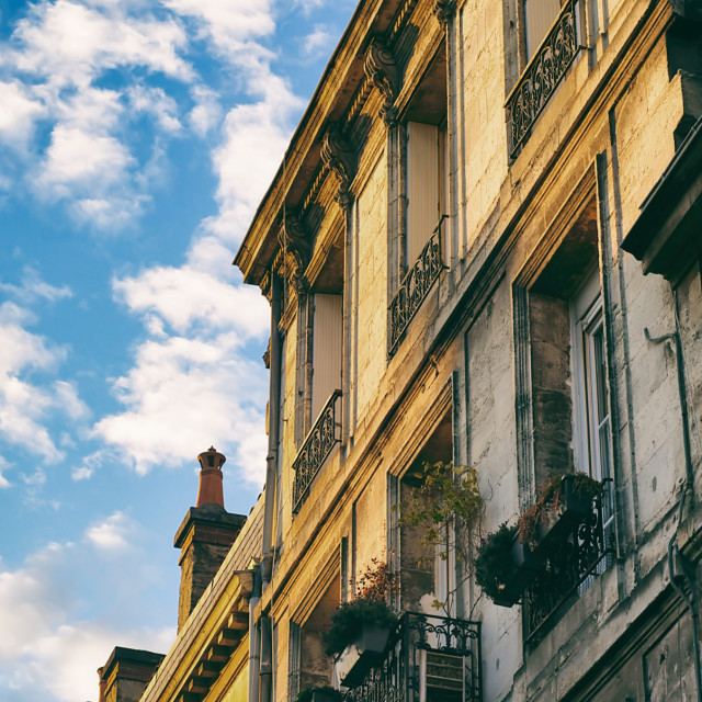"""A Typical Row of Houses in Bordeaux"" stock image"