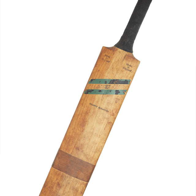"""Cricket bat on white background"" stock image"