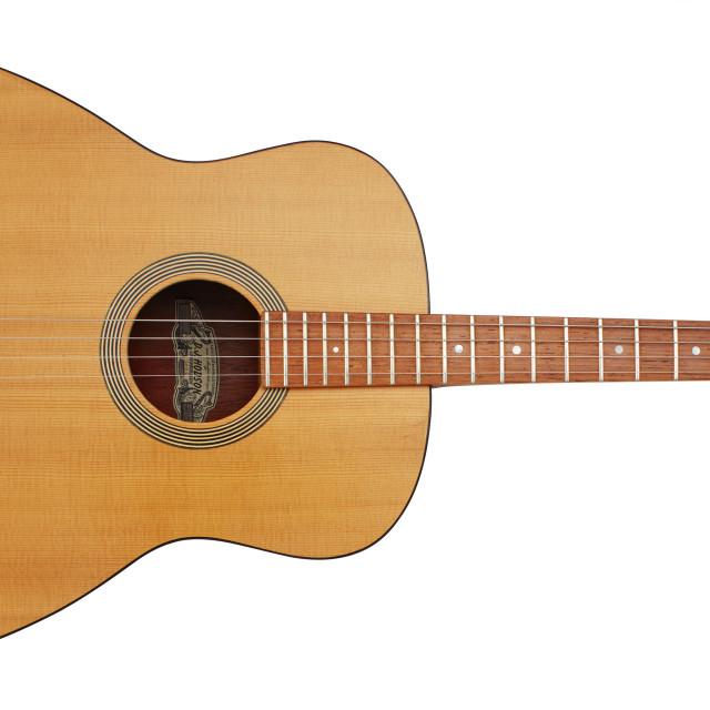 """DJ Hodson handmade tenor guitar"" stock image"