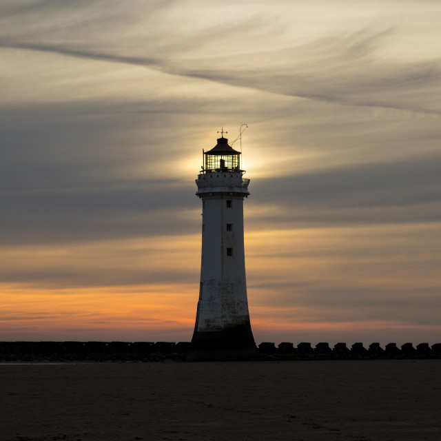 """Perch Rock Lighthouse Glow"" stock image"