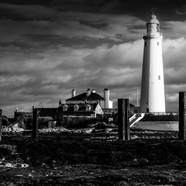 """""""St.Mary's Lighthouse, Whitley Bay"""" stock image"""