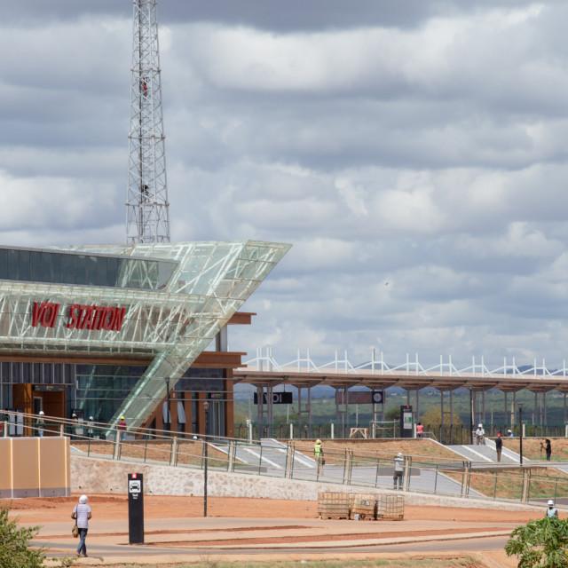 """Voi station #CelebrateAfrica"" stock image"