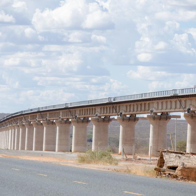 """Road and Bridge #CelebrateAfrica"" stock image"