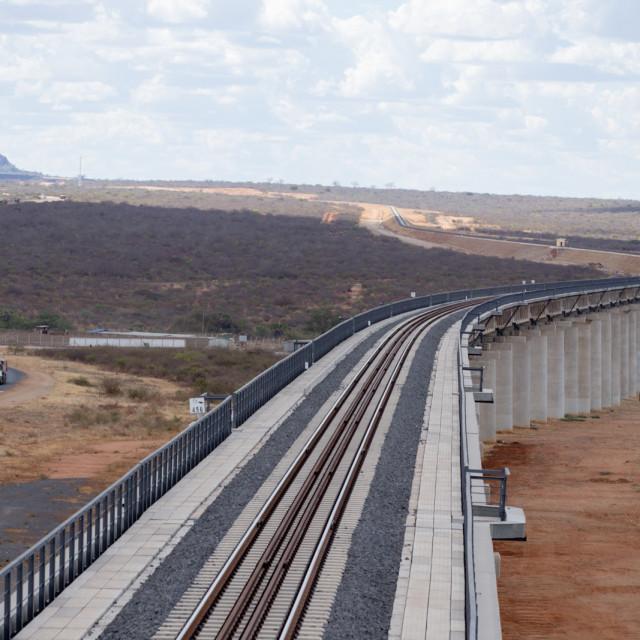 """Tsavo Bridge"" stock image"