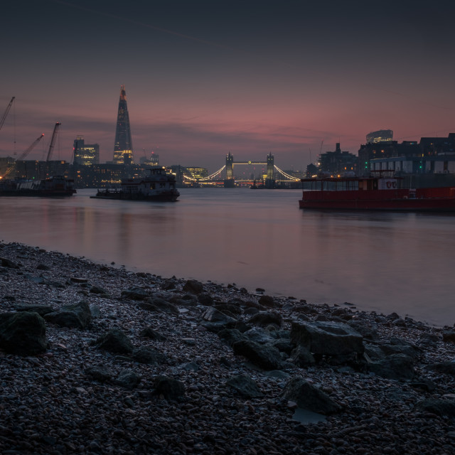 """Dusk Over Tower Bridge"" stock image"