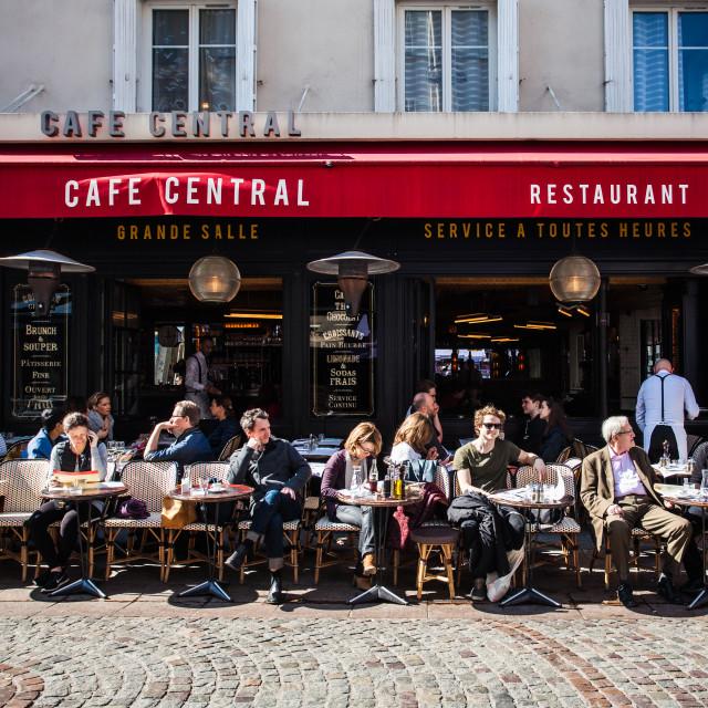 """Café Central"" stock image"
