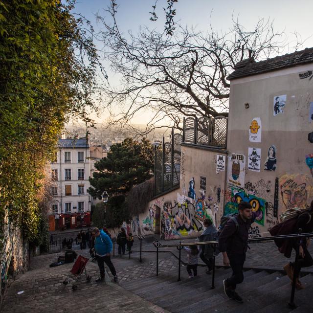 """""""Montmartre"""" stock image"""
