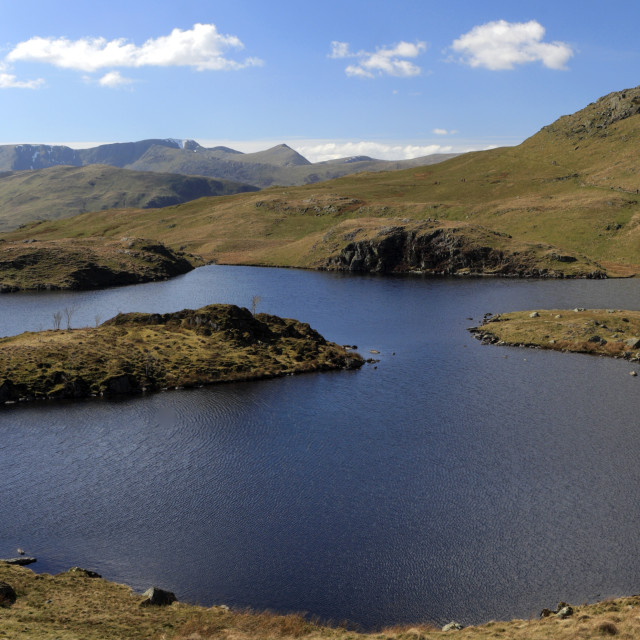 """Angle Tarn, Lake District National Park, Cumbria, England, UK"" stock image"