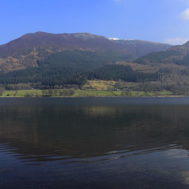 """Spring February, March, Bassenthwaite Lake, Cumbria, Lake District National..."" stock image"