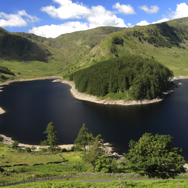 """Summer, Haweswater, Lake District National Park, Cumbria, England, UK"" stock image"