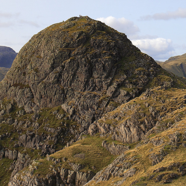 """Pike O Stickle fell and ridge, one of the 3 Langdale Pikes, Great Langdale,..."" stock image"