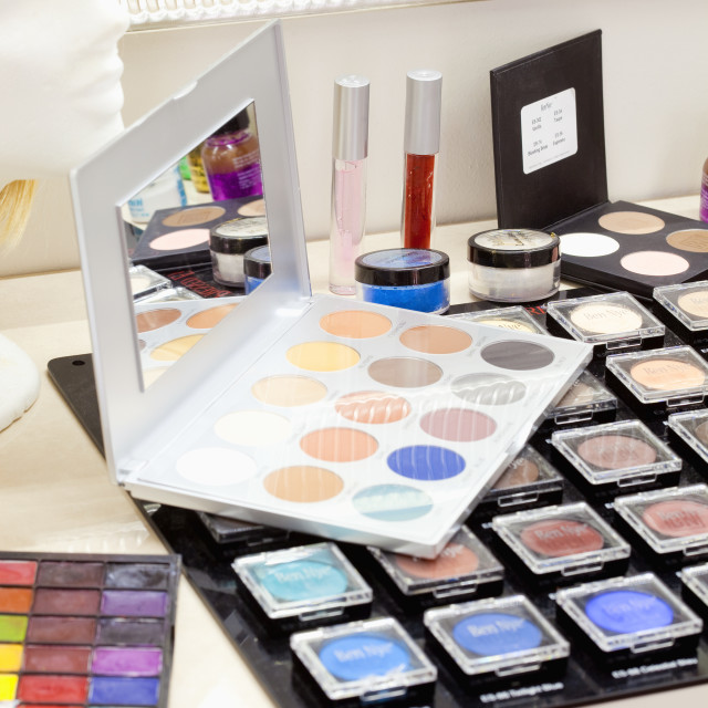 """""""Set of High Quality Makeup Cosmetic Products"""" stock image"""