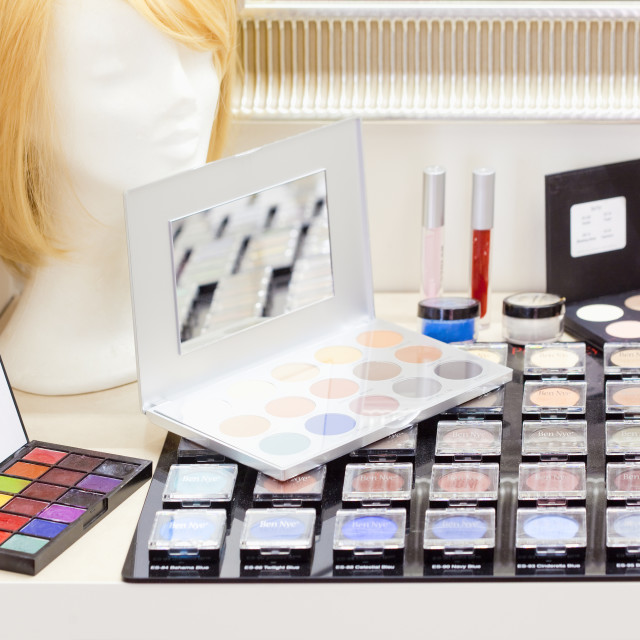 """Set of High Quality Makeup Cosmetic Products"" stock image"
