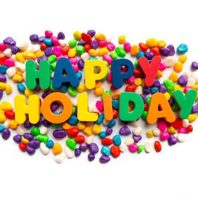 """happy holiday"" stock image"