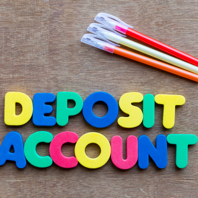"""deposit account"" stock image"