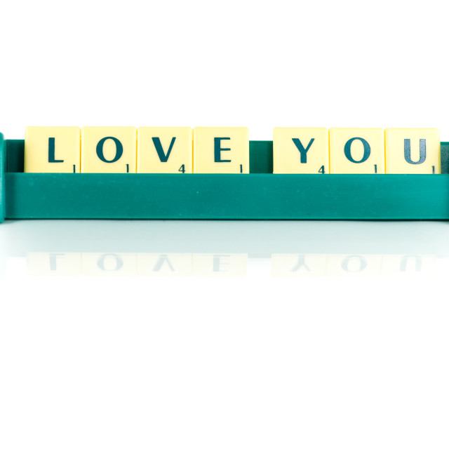 """""""love you"""" stock image"""