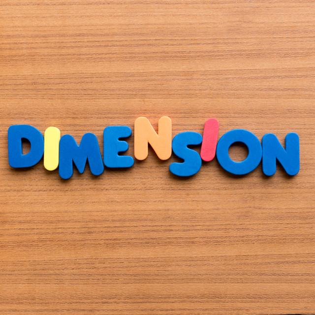 """dimension"" stock image"