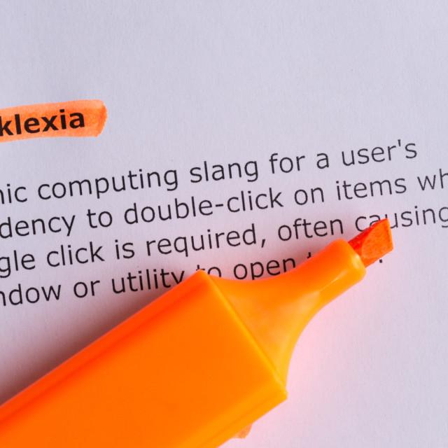 """""""clicklexia"""" stock image"""