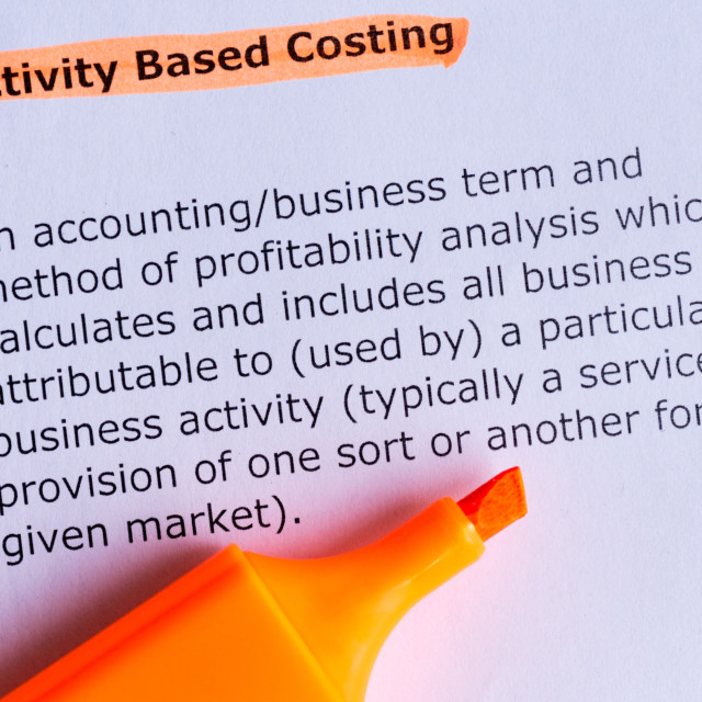 """""""activity based costing"""" stock image"""