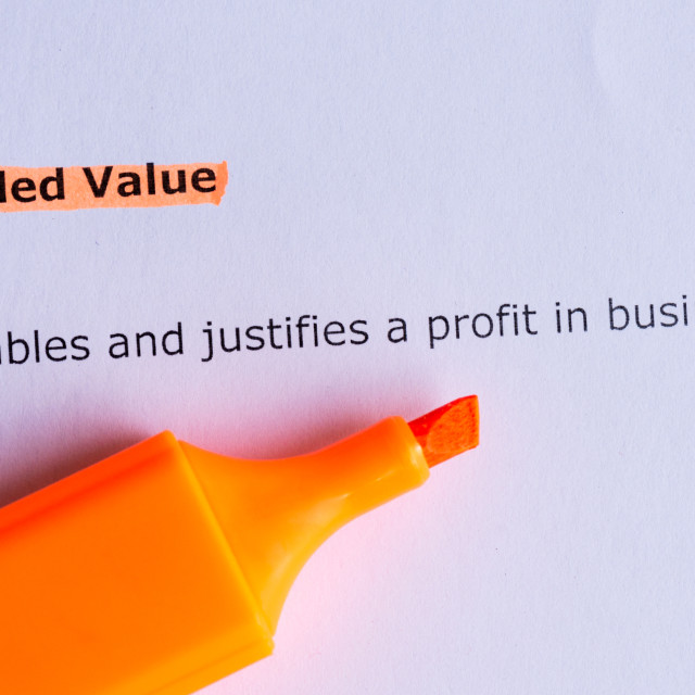 """added value"" stock image"