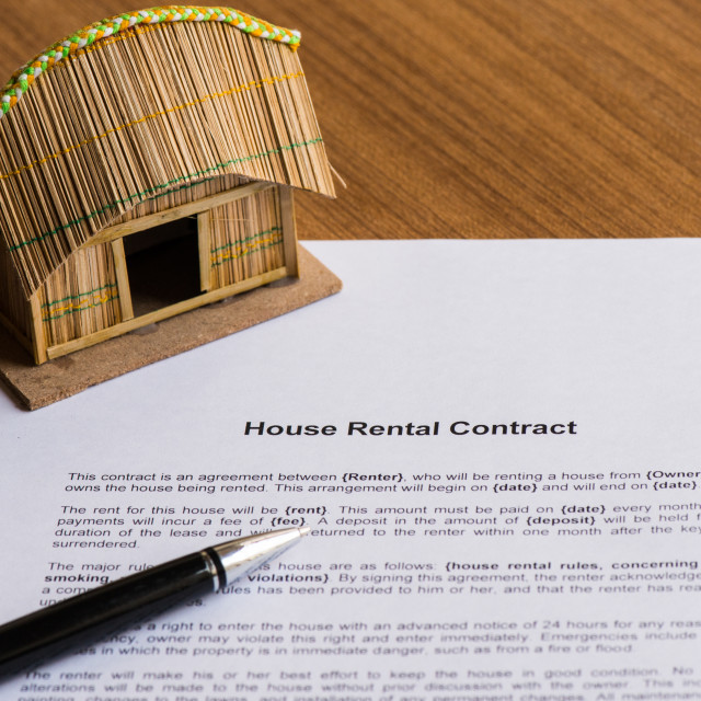 """""""house rental contract"""" stock image"""