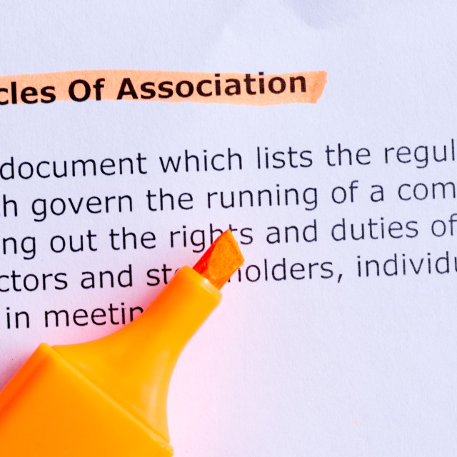 """""""articles of association"""" stock image"""