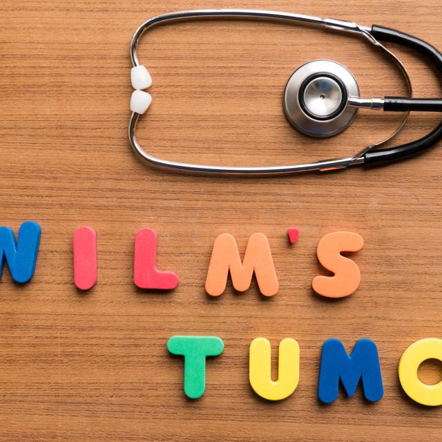 """""""wilm's tumor"""" stock image"""