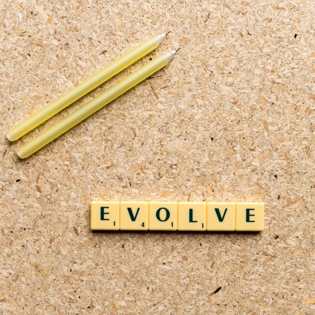 """evolve"" stock image"