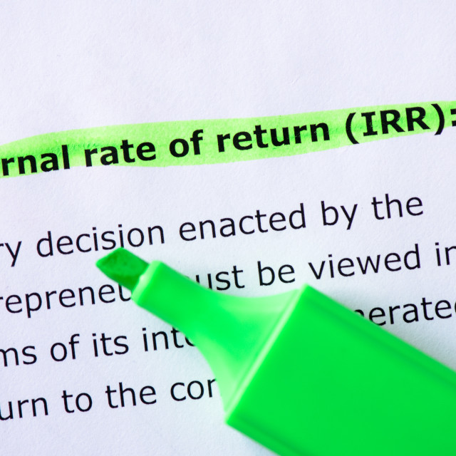 """Internal rate of return (IRR)"" stock image"