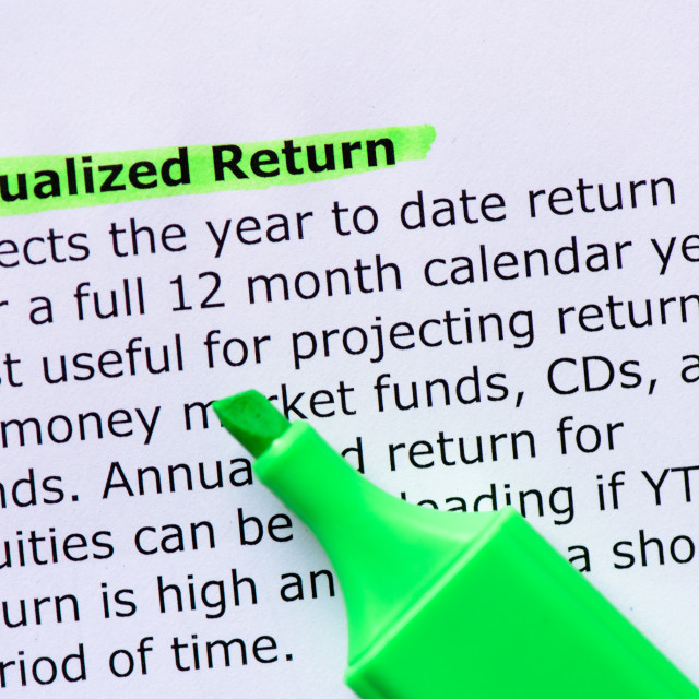 """Annualized Return"" stock image"