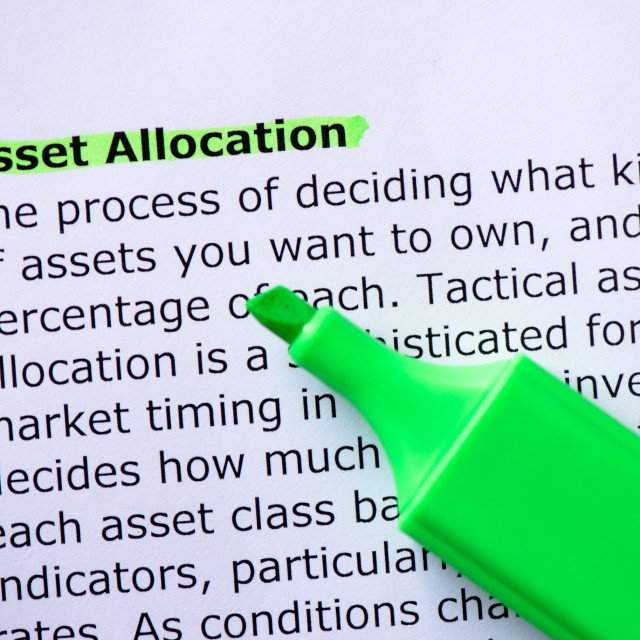 """""""Asset Allocation"""" stock image"""