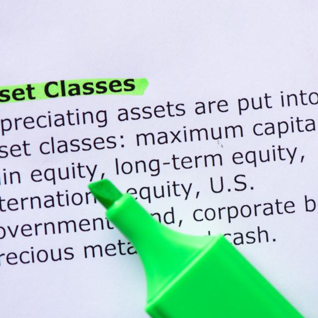 """Asset Classes"" stock image"