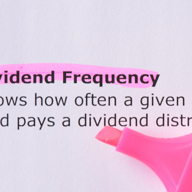 """Dividend Frequency"" stock image"