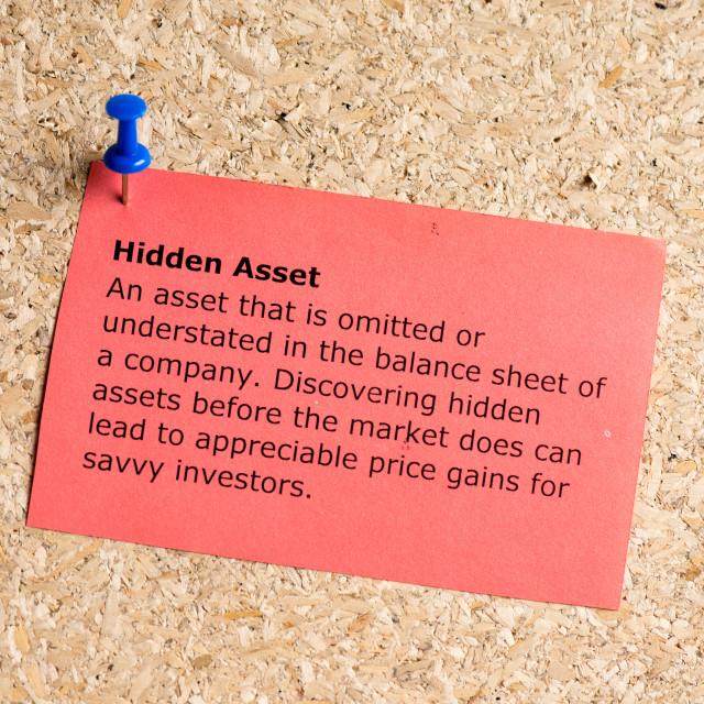 """""""hidden asset"""" stock image"""