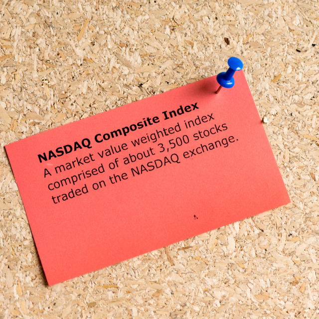 """""""nasdaq composite index"""" stock image"""