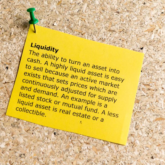 """""""liquidity"""" stock image"""