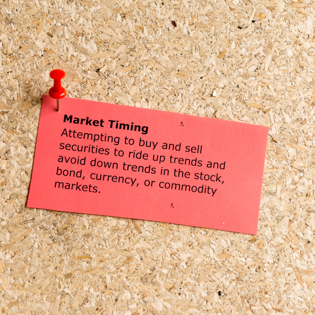 """market timing"" stock image"
