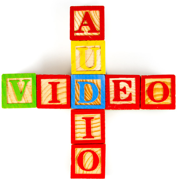 """audio and video"" stock image"