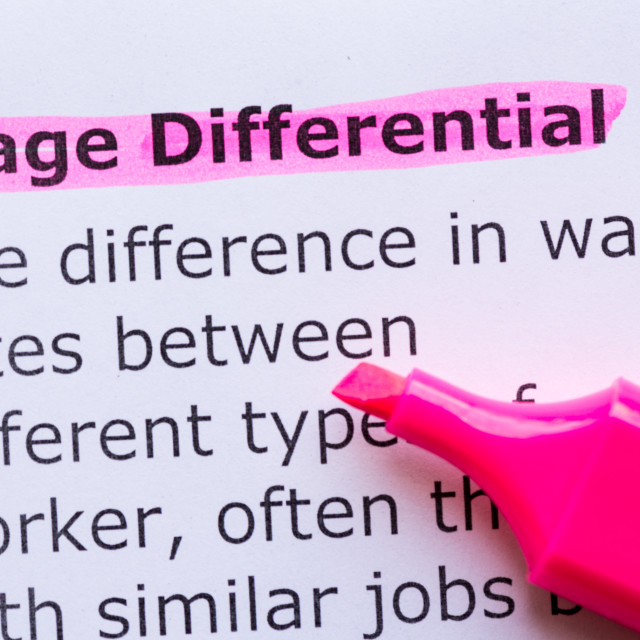 """wage differential"" stock image"